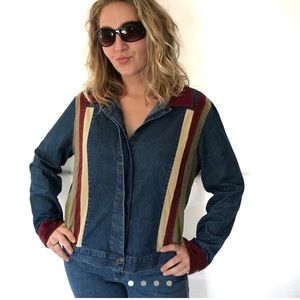 Funky Vintage Denim Jacket Shirt Forenza